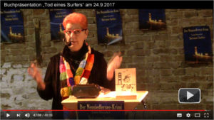 video praesentation tod eines surfers